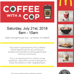 Coffee with a Cop 7.21.2018