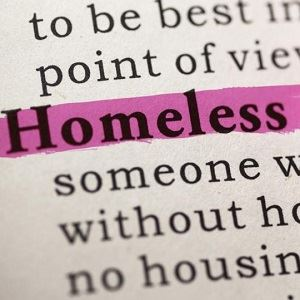 Homelessness Word